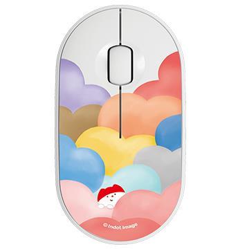 【M350*1(任選色)+插畫家上蓋*2(任選)】羅技Pebble M350設計款上蓋-雲端棉花糖