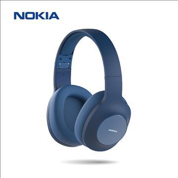 NOKIA E1200頭戴式無線藍牙耳機-冰湖藍