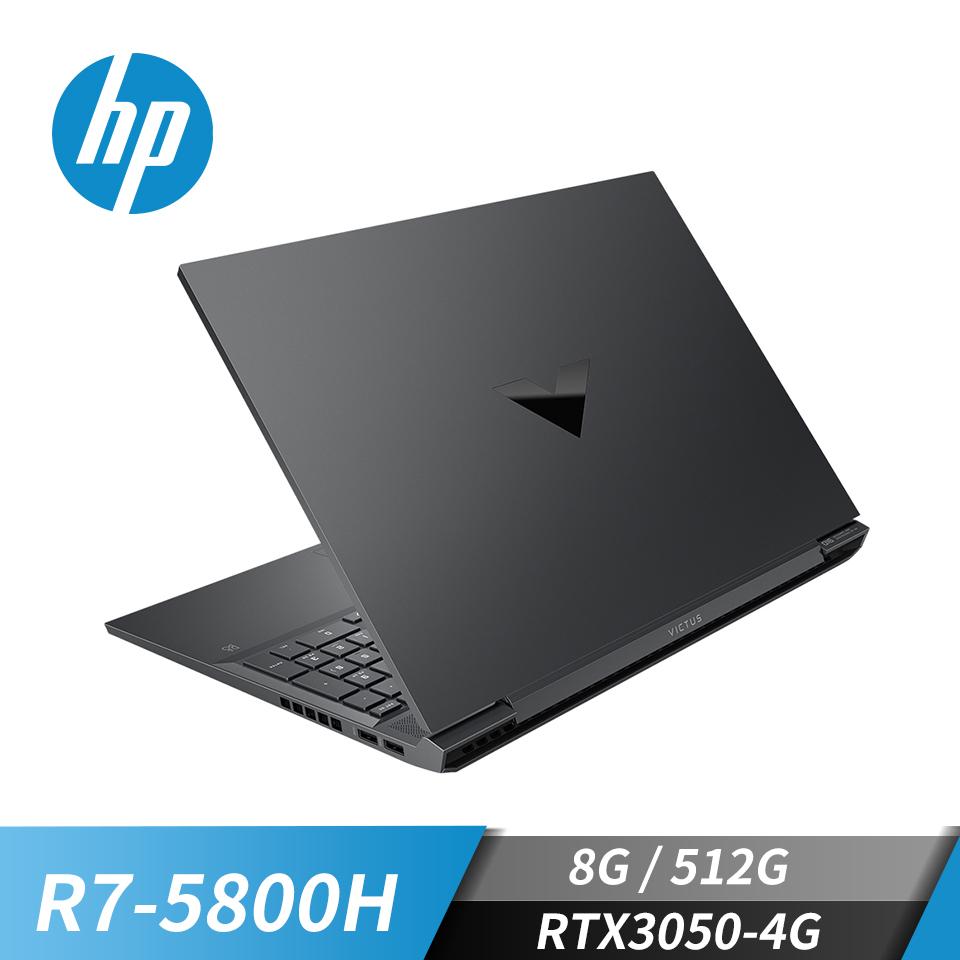 """惠普 HP Victus 光影V筆記型電腦 16""""(R7-5800H/8GB/512GB/RTX3050-4G/W10)公爵黑"""
