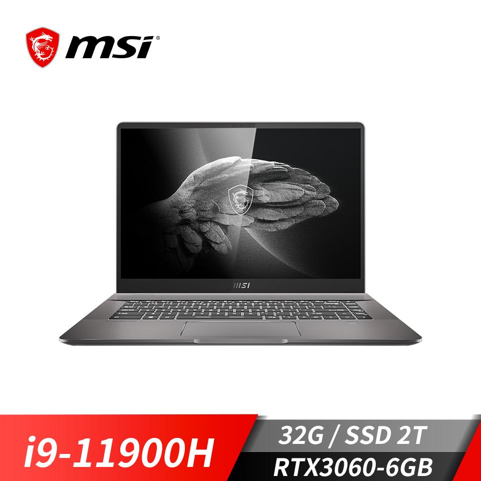 msi微星 Creator Z16 A11UET-092TW 筆電(i9-11900H/32G/2T/RTX3060/W10P)