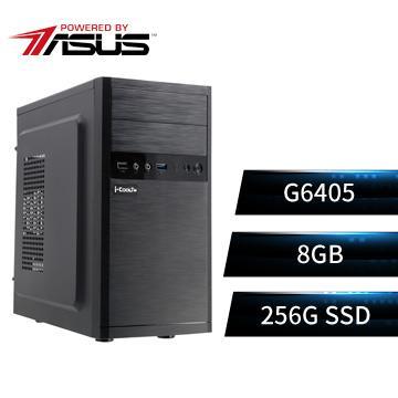 PBA華碩平台[魔幻騎兵II]雙核效能SSD電腦(G6405/H510M/8G/256G)