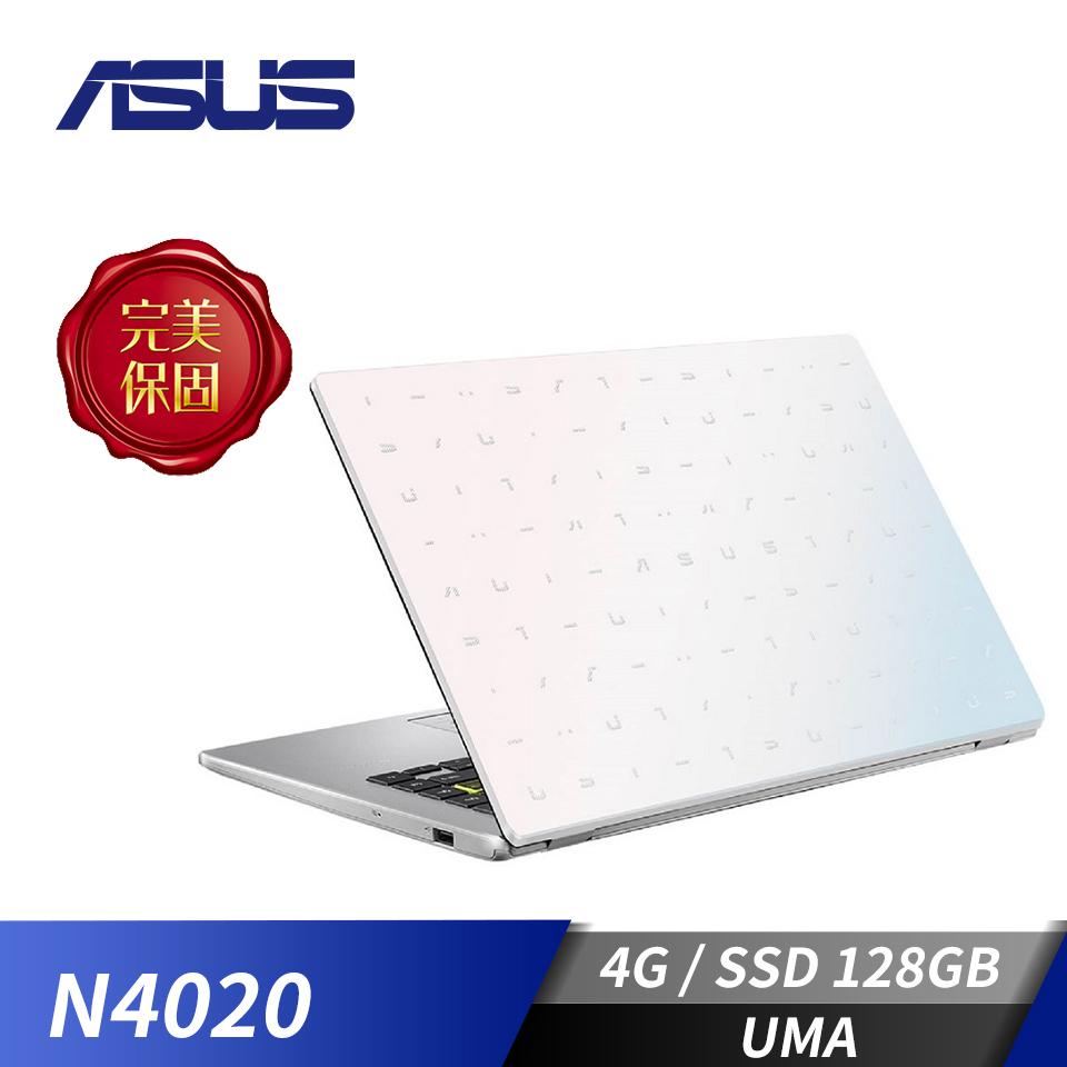華碩ASUS Laptop E410MA 筆記型電腦-夢幻白(N4020/4G/128G/W10)