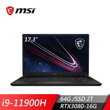 msi微星 GS76 11UH-072TW 電競筆電(i9-11900H/64G/2T/RTX3080/W10P)
