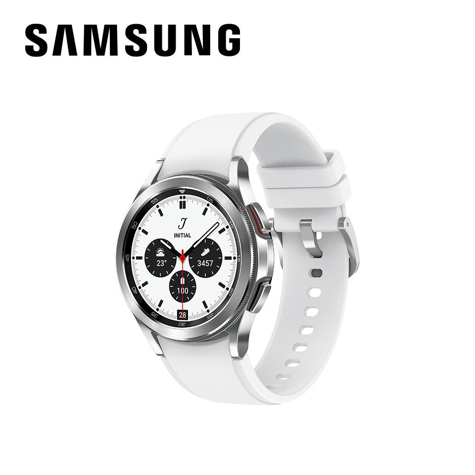 教育優惠|SAMSUNG Galaxy Watch4 Classic不鏽鋼 42mm 鈦灰銀