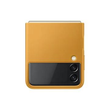 Galaxy Z Flip3 5G 皮革背蓋 芥末黃