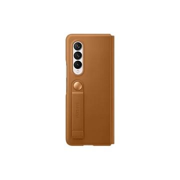 Galaxy Z Fold3 5G 皮革翻頁式皮套 駝色