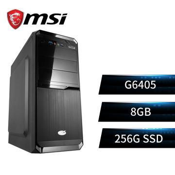 MSI微星平台[天星戰士]雙核效能SSD電腦(G6405/H510M/8G/256G/W10)