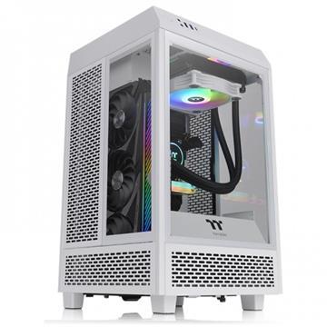 【組裝散熱套件】曜越 The Tower 100 ITX 全景迷你機殼 雪白+水冷排+電源供應器