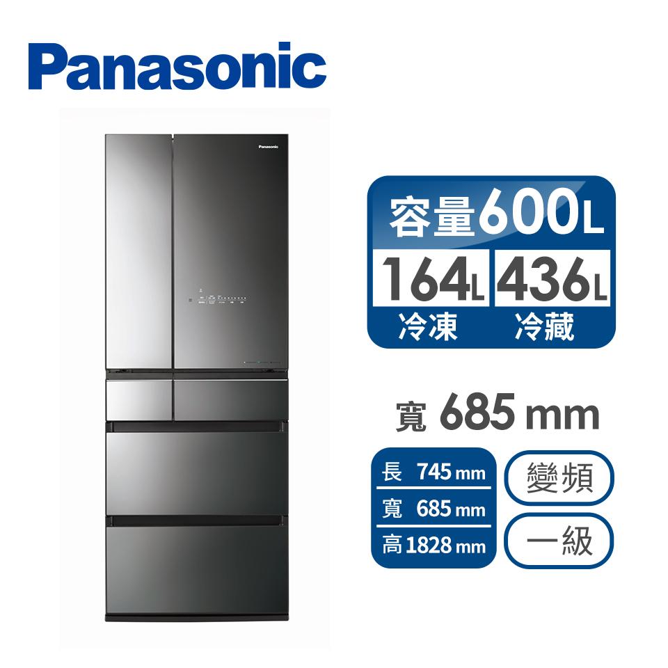國際牌 Panasonic 600公升日製六門變頻玻璃冰箱