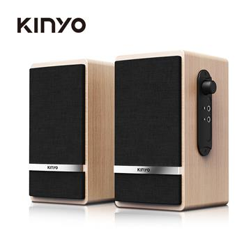 KINYO USB二件式木質音箱