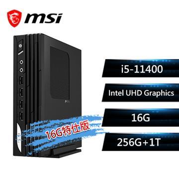 msi微星 PRO DP21 11M-005TW 桌上型桌機(i5-11400/16G/256G+1T/W10P)