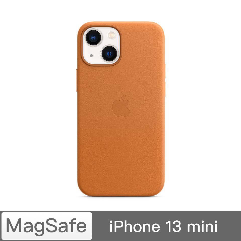 iPhone 13 mini MagSafe 皮革殼-金棕色