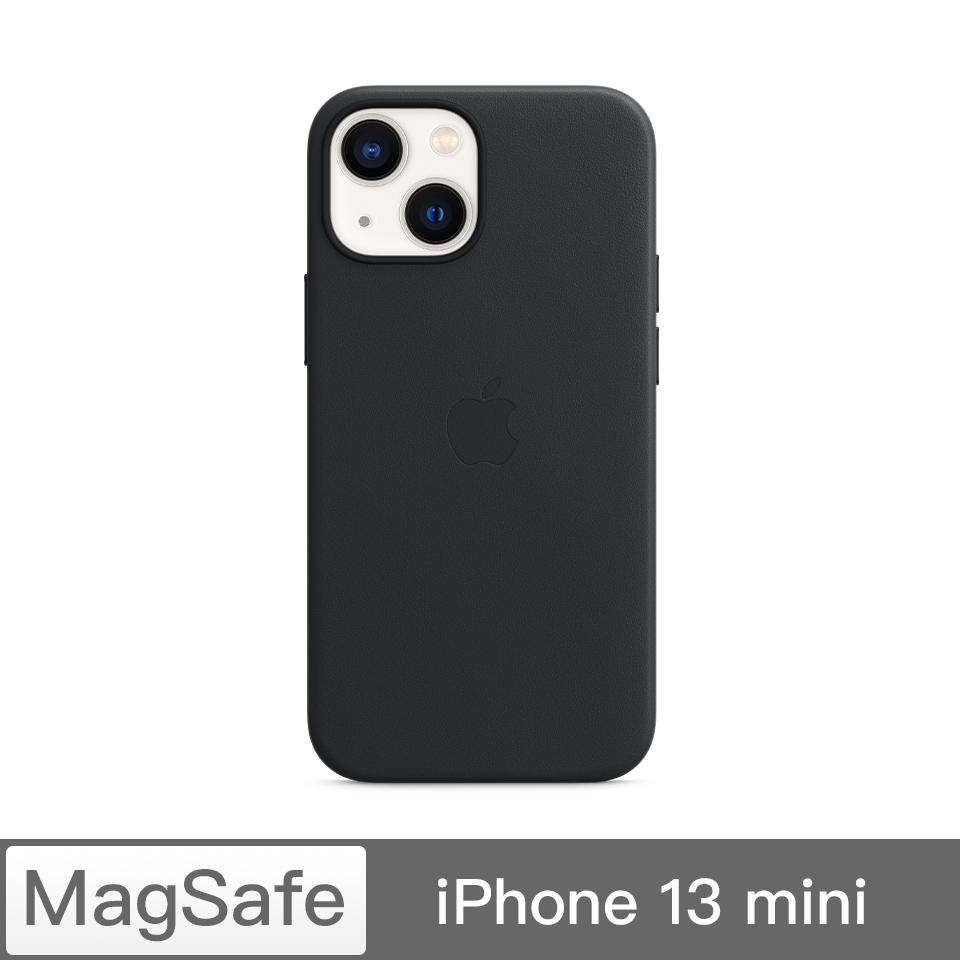 iPhone 13 mini MagSafe 皮革殼-午夜色