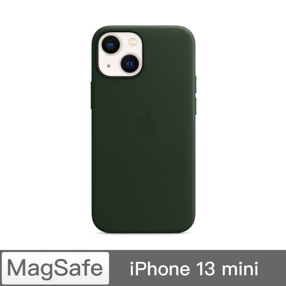 iPhone 13 mini MagSafe 皮革殼-衫綠色