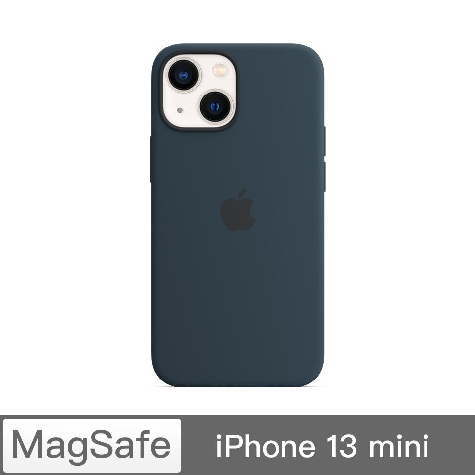 iPhone 13 mini MagSafe矽膠殼-深邃藍色