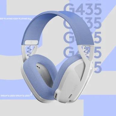 羅技 Logitech G435 輕量雙模電競藍牙耳麥-白