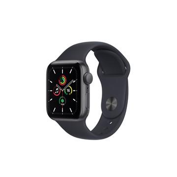 Apple Watch SE GPS 40mm|太空灰色鋁金屬錶殼|午夜色運動型錶帶