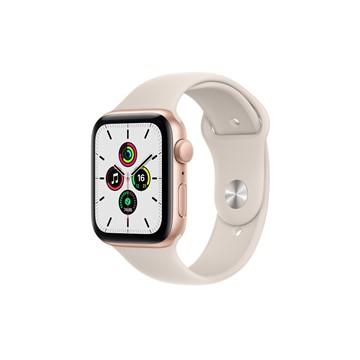 Apple Watch SE GPS 44mm|金色鋁金屬錶殼|星光色運動型錶帶
