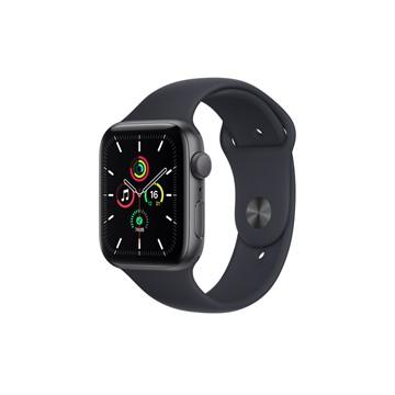 Apple Watch SE GPS 44mm|太空灰色鋁金屬錶殼|午夜色運動型錶帶