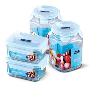 Panasonic贈品-Glasslock分隔保鮮盒罐組4入